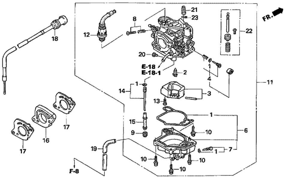 карбюратор honda BF15D3 SHU Carburetor