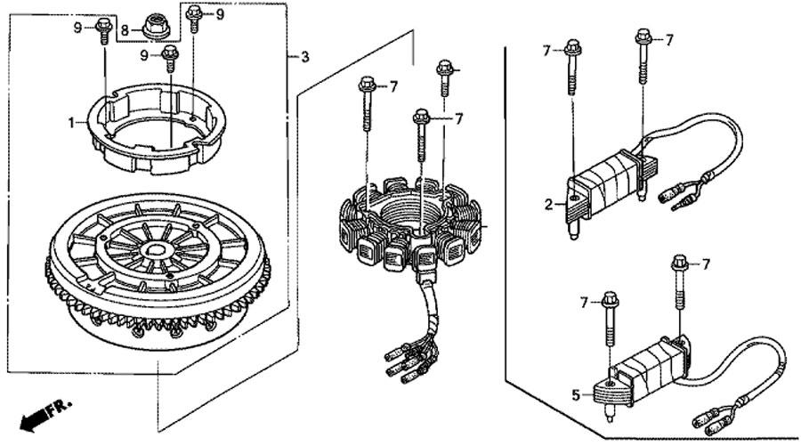 маховик для honda BF15D3 SHU flywheel