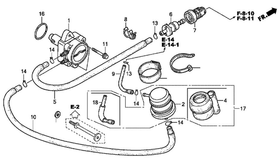 мотор Honda BF20 D3 SHU - топливный насос