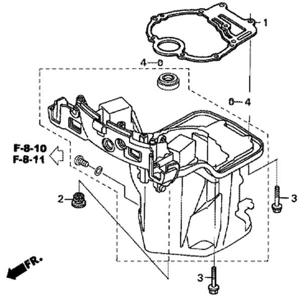 уплотнение поддона масляного картера honda BF-20 D3 SHU
