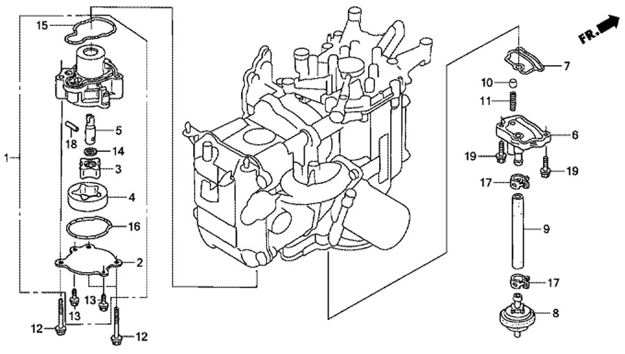 масляный насос для honda BF20 D3 SHU