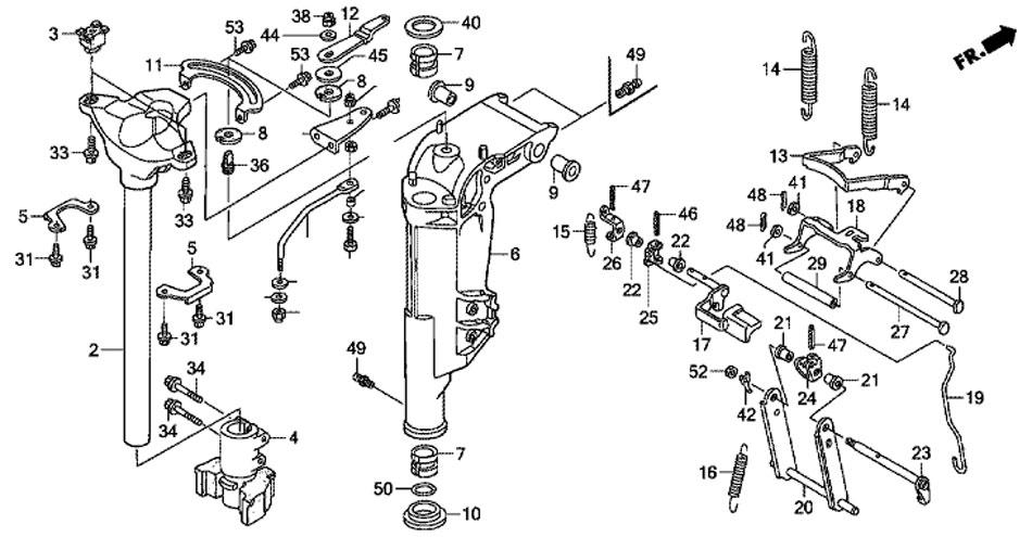 корпус шарниров Honda BF20D3 SHU - swivel case