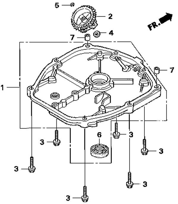 крышка картера honda BF2,3D6 SC HU