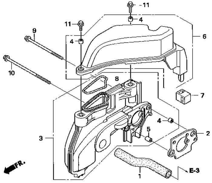 воздуховод подвесного мотора honda BF 2,3 D6 SCHU