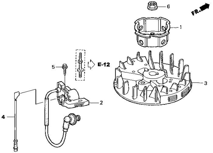 катушка зажигания мотора honda BF 2,3 D6 SC HU
