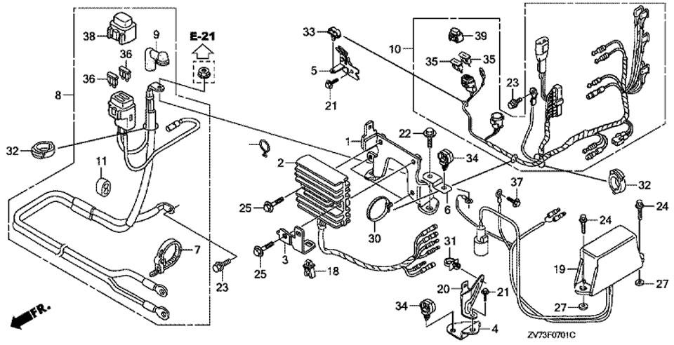 двигатель honda BF30 A4 SRTU, регулятор Regulator
