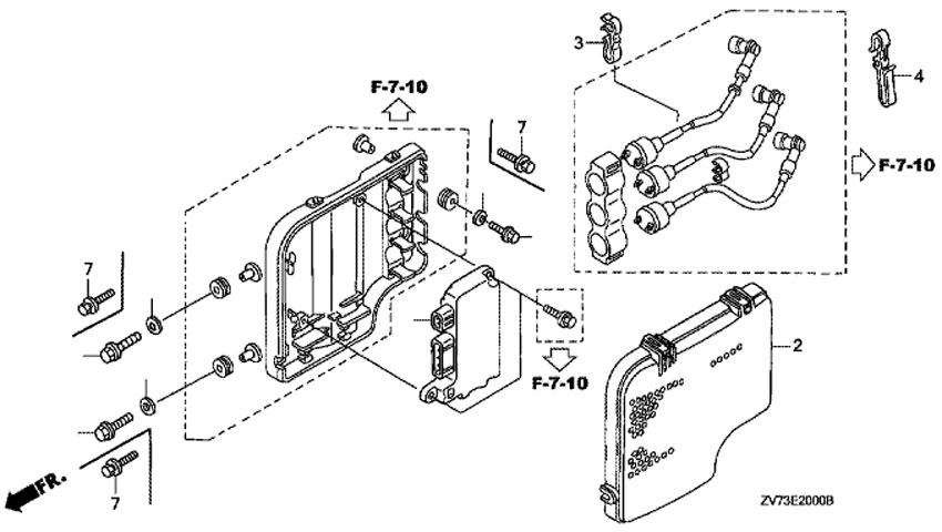 блок контактного зажигания HONDA BF30 A4 SRTU