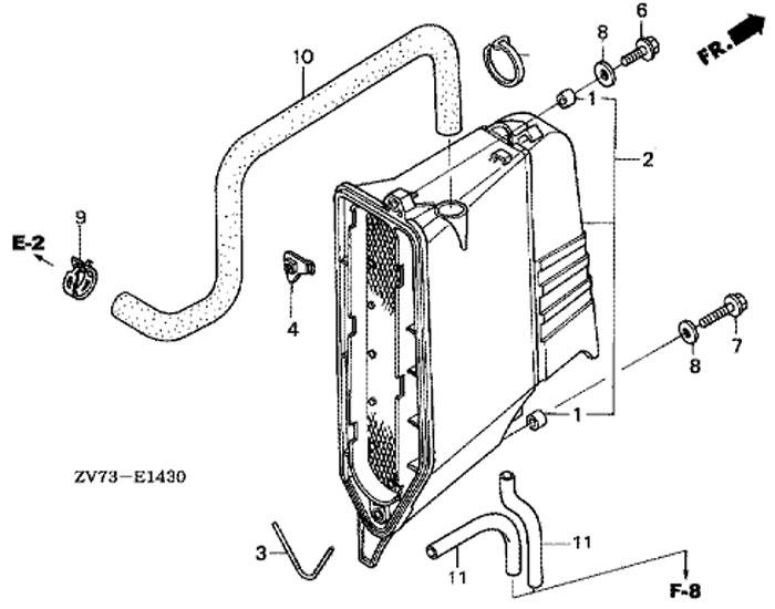 мотор honda BF30A4 SRTU, крышка шумопоглотителя, Muffler Cover