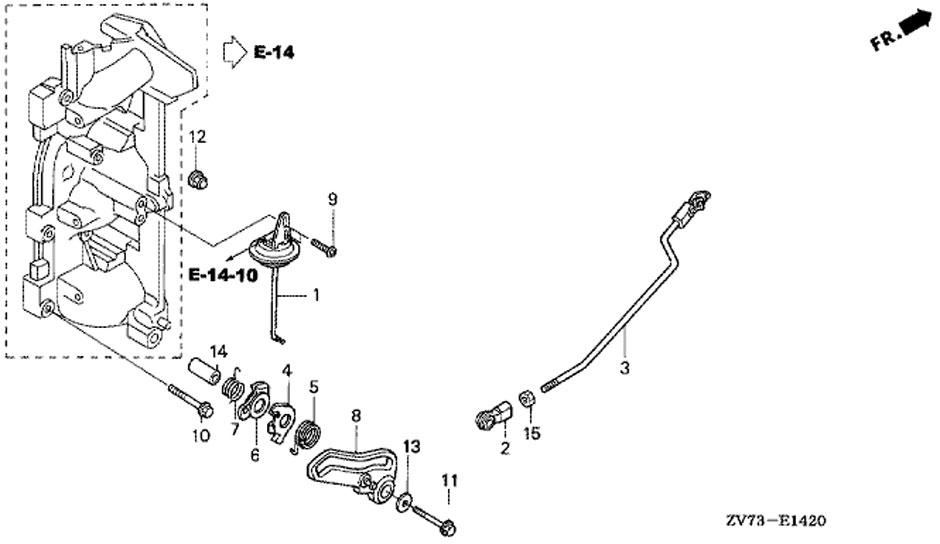 honda BF30A4 SRTU, тяга дроссельной заслонки, Throttle Rod