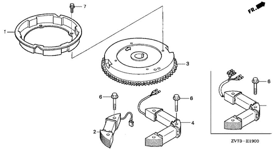 маховик Flywheel honda BF30 A4 SRTU