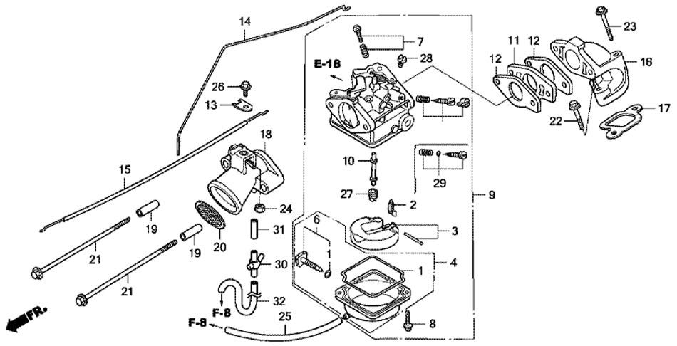 карбюратор BF5 A4 SU двигателя