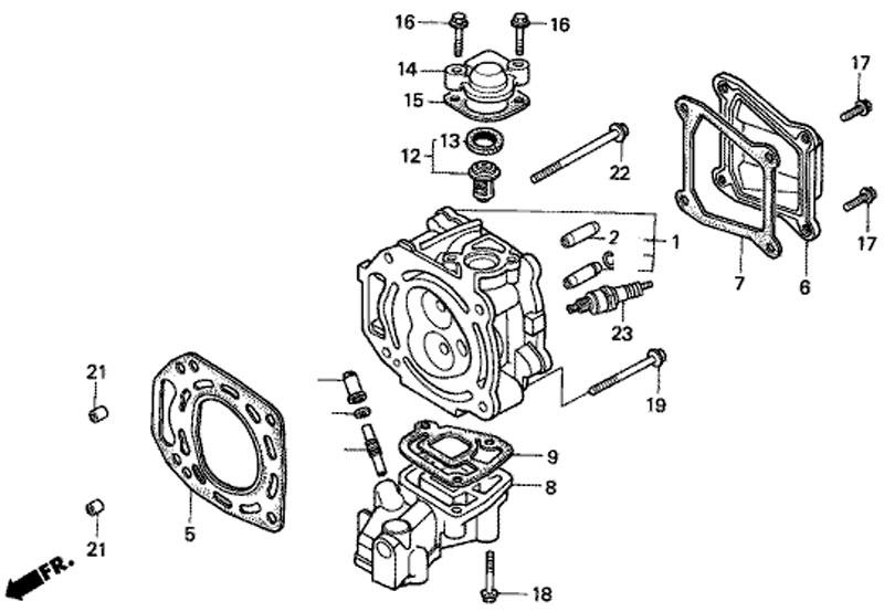 головка блока цилиндров honda BF5 A4 SU