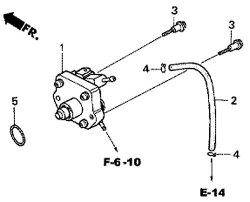 топливный насос на мотор BF5 A4 SU