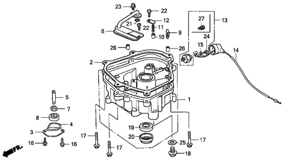 поддон масляного картера мотора honda BF5 A4 SU