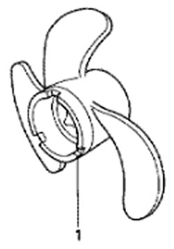 гребные винты для honda BF5 A4 SU