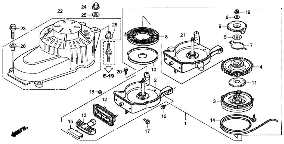 барабанный стартер honda BF5A4 SU
