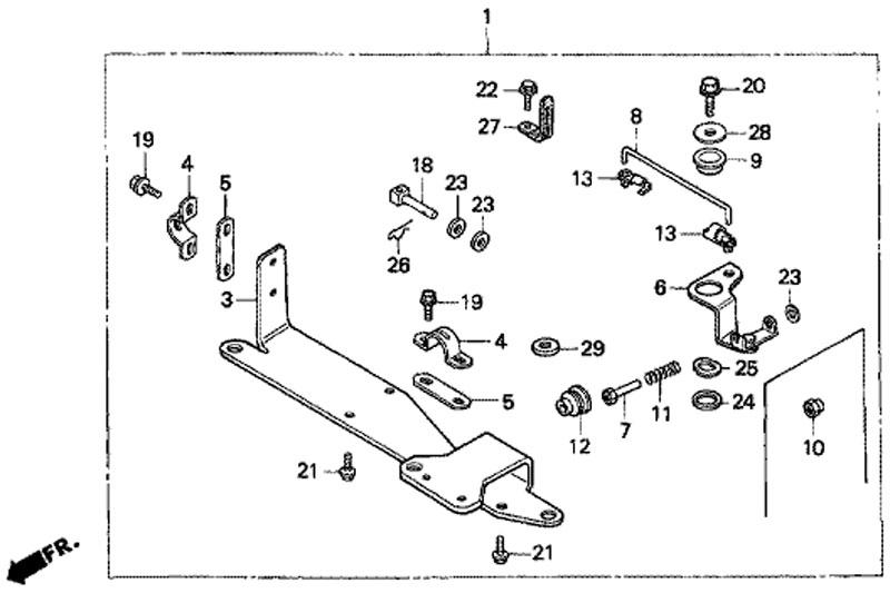 набор дистанционного управления для honda BF5 A4 SU