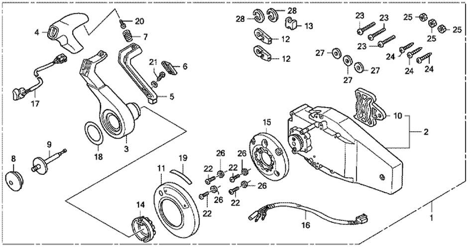 honda bf50 parts