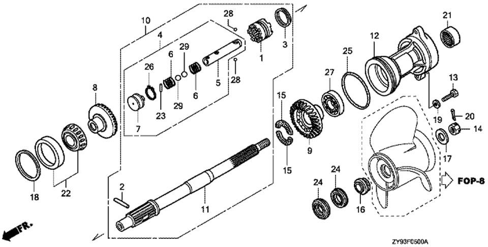 замена шестерен в лодочном моторе ямаха