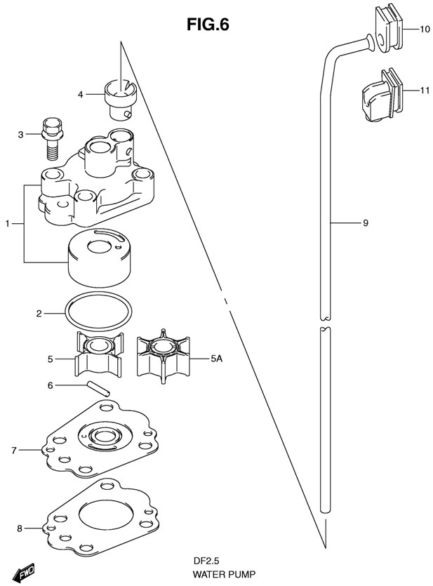 Ремонт системы охлаждения лодочного мотора сузуки своими руками