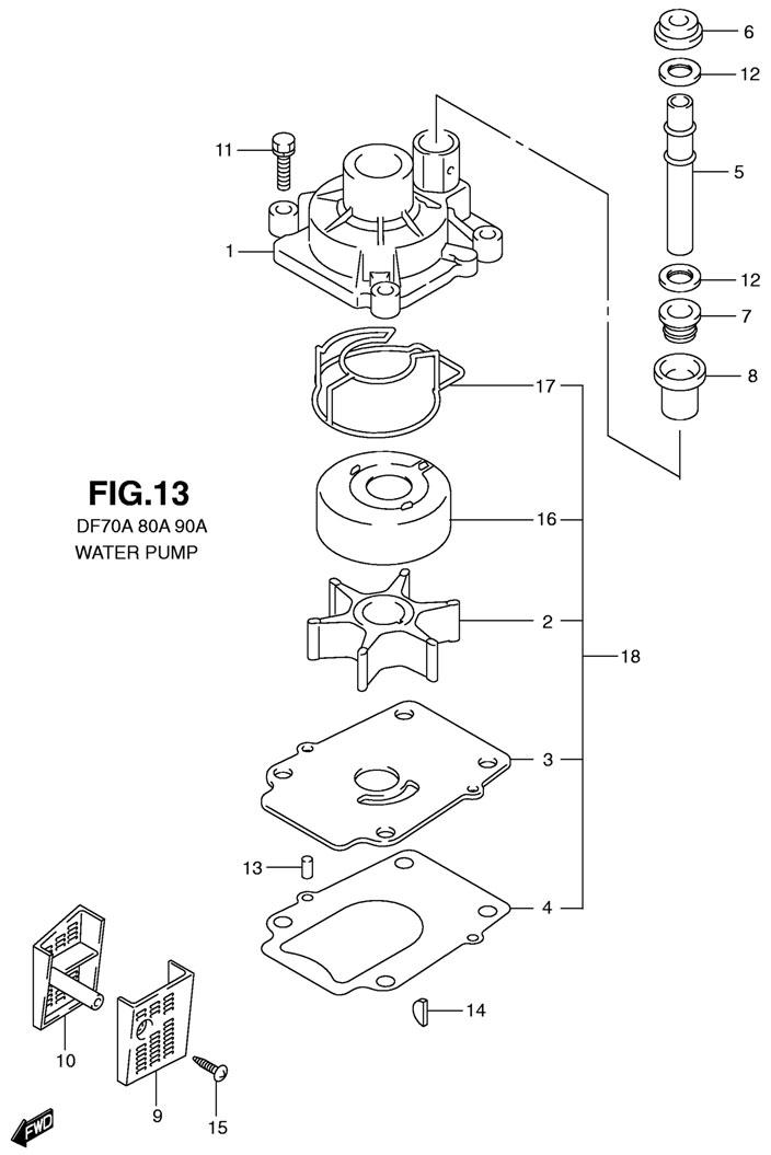 Схема охлаждения лодочного мотора сузуки