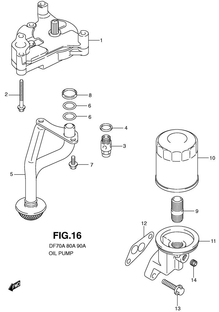 масляный фильтр для лодочных моторов сузуки