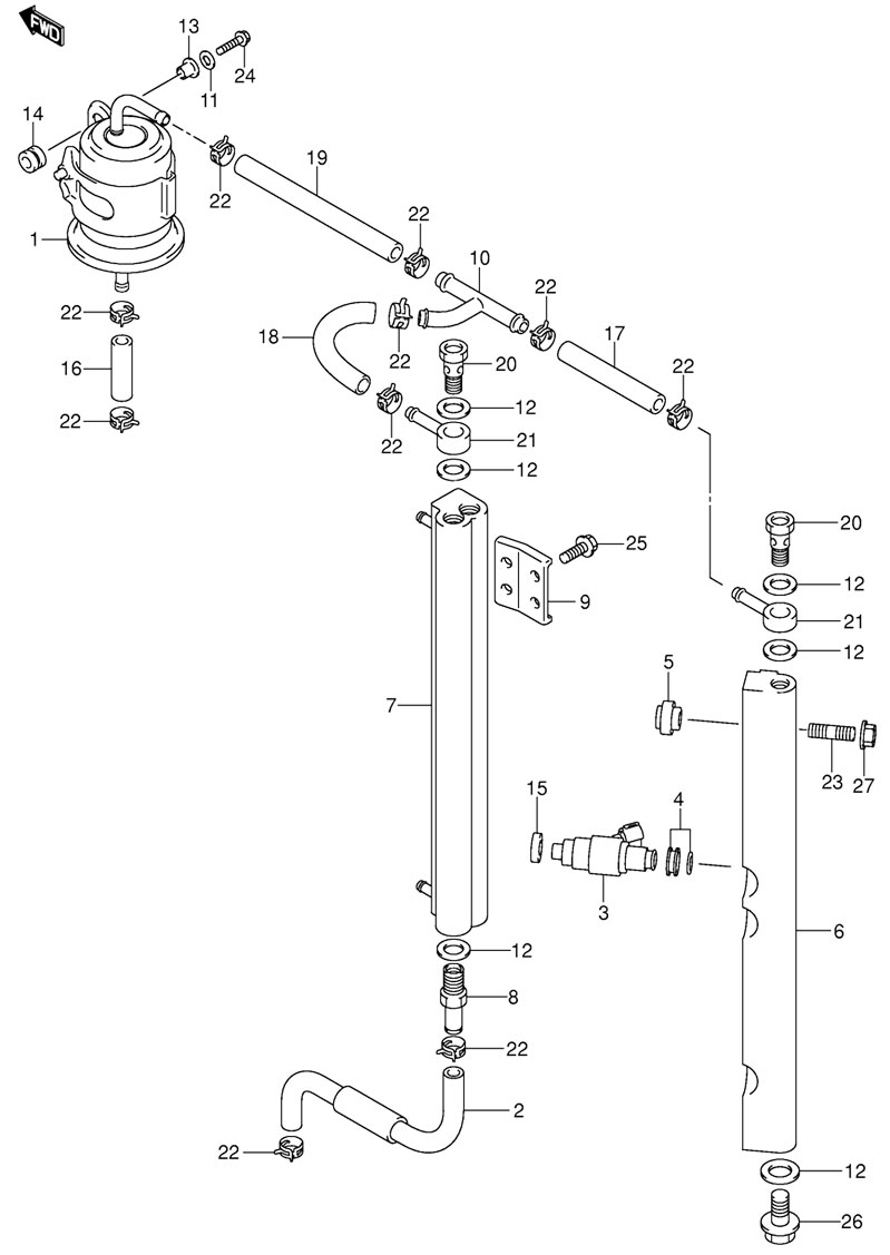 фильтр в лодочном моторе сузуки 115