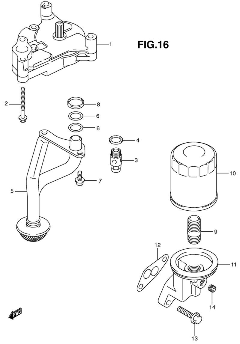 купить масляный фильтр для лодочного мотора сузуки