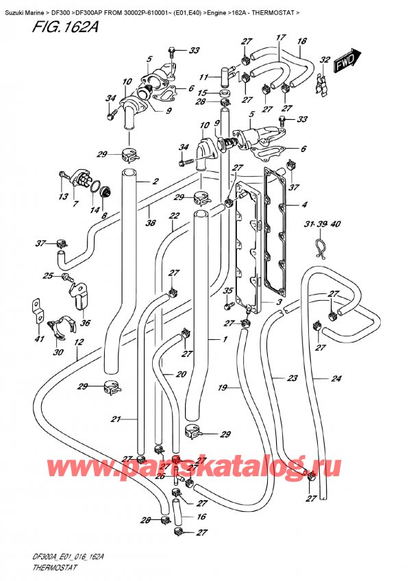 Подобрать оригинальные запчасти на лодочный подвесной мотор SUZUKI