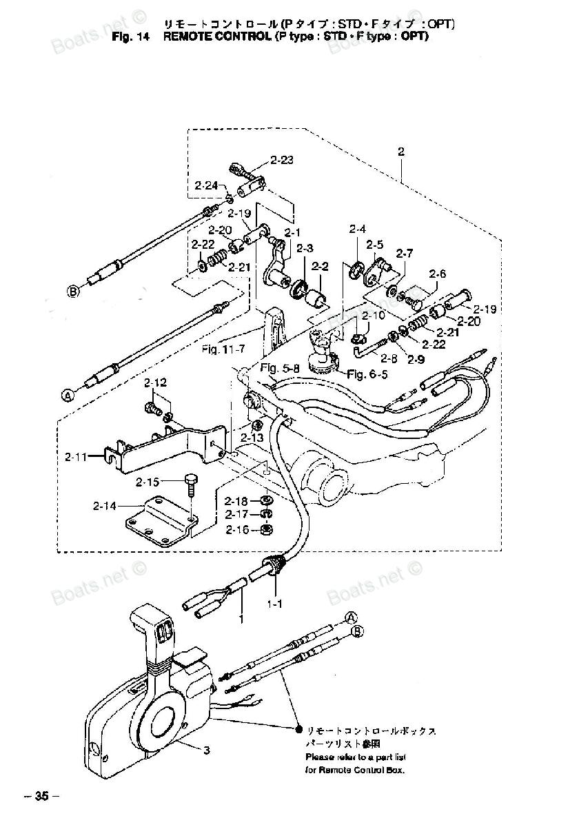 подключение дистанционного управления к лодочному мотору тохатсу 18